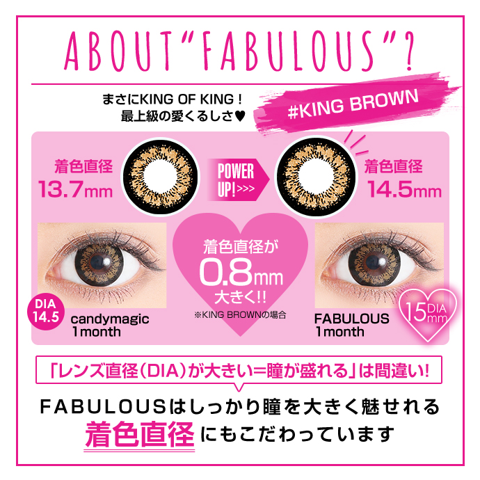 "ABOUT""FABULOUS""#KING BROWN まさにKING OF KING!最上級の愛くるしさ DIA15.0mm 着色直径14.5mm"