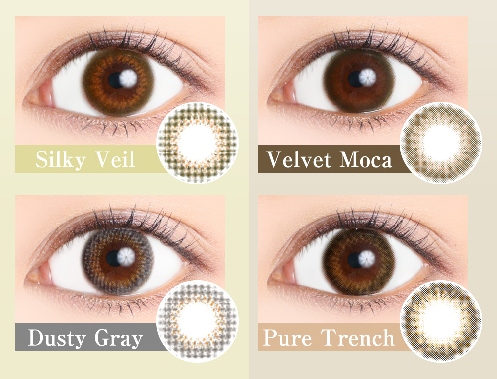 Victoria 1day SilkyVeil VelvetMoca DustyGray PureTrench