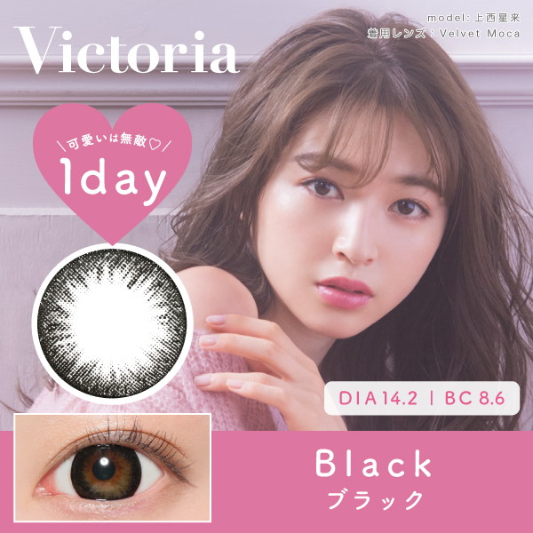 Victoria 1day by candymagic 《BLACK》 ブラック 度あり/度なし 1箱10枚入り
